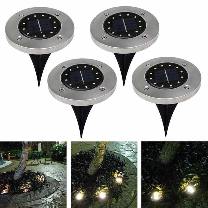 Solar Garden Disk Light