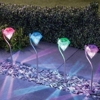 Diamond Solar Garden Lights