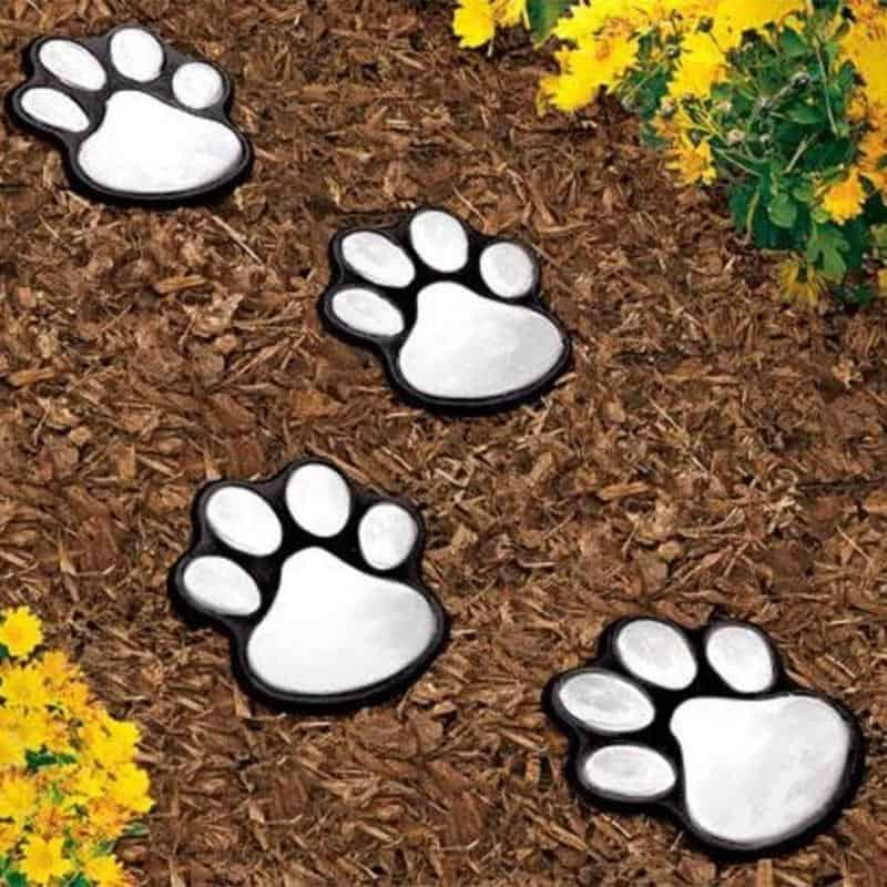 Solar Paw Print Lights
