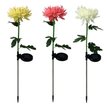 LED Solar Power Chrysanthemum