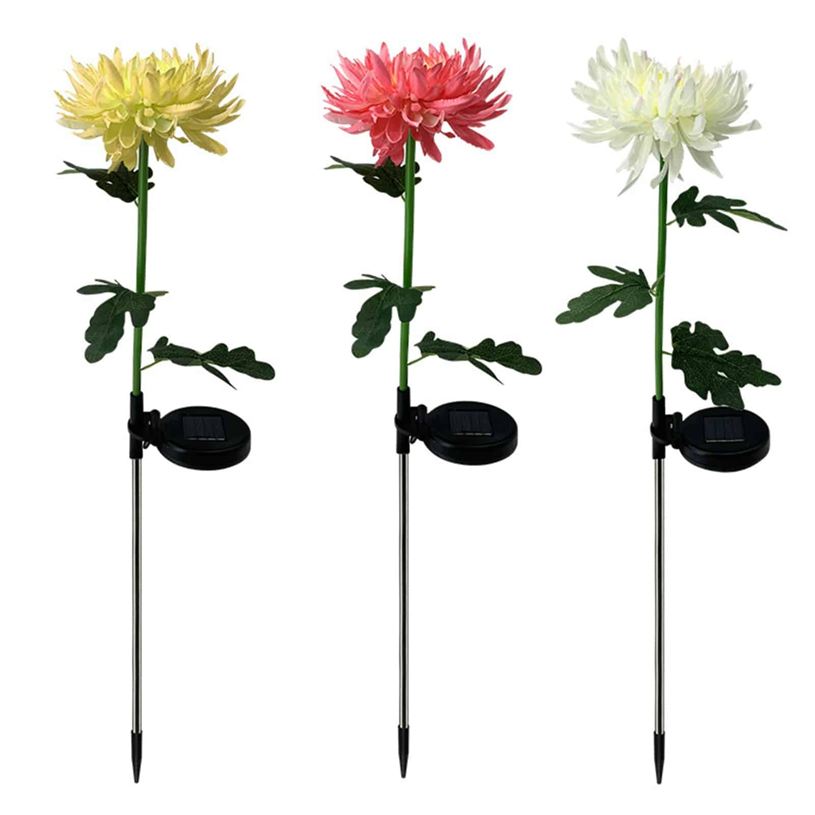 LED Solar Power Chrysanthemum